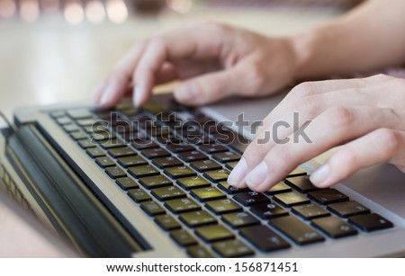 computer business education - stock photo