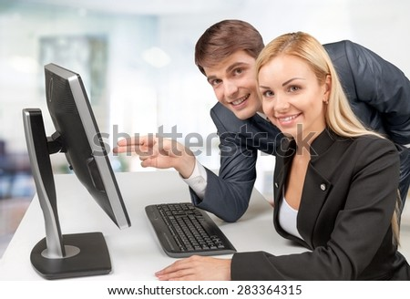 Computer, Business, People.