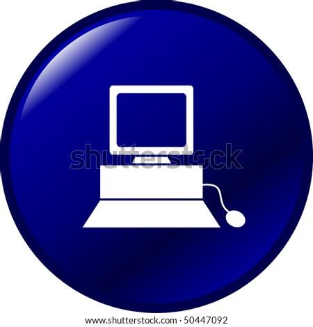 computer button - stock photo