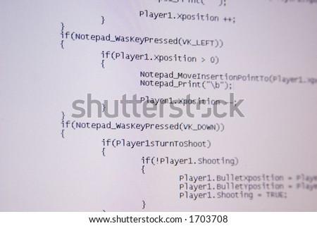 Computer C code programming - stock photo