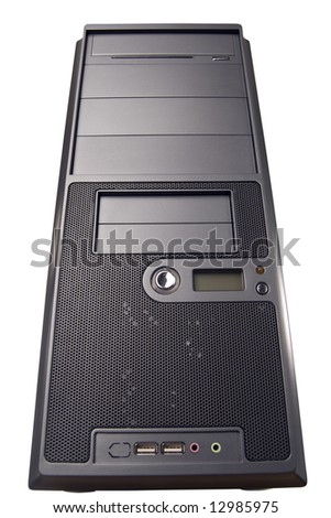 Computer chassis isolated over white background