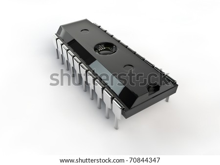computer chip - stock photo