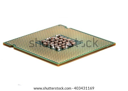 computer chip isolated on the white background