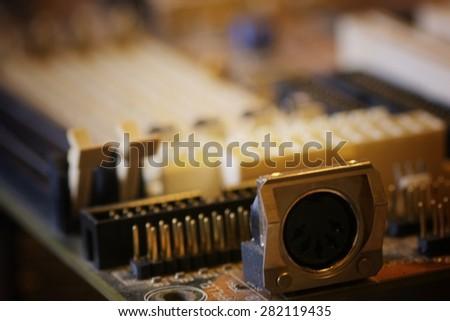 Computer chip macro - stock photo