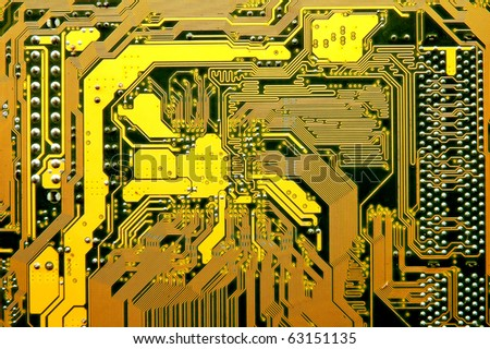 computer circuit - stock photo