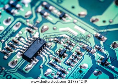 Computer Circuit Board - stock photo