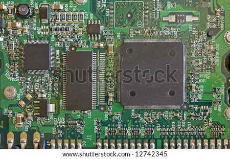 Computer Circuit Board taken from a hard disk. - stock photo