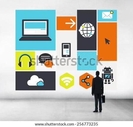Computer Cloud Computing Storage Media Digital Concept - stock photo