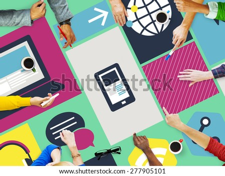Computer Cloud Computing Storage Media Digital Concept - stock photo