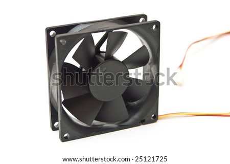 computer cooler for cpu or power supply - isolated on white