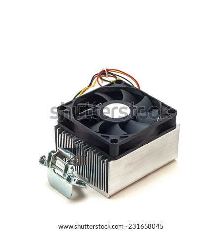 Computer cooling isolated on a white background  - stock photo