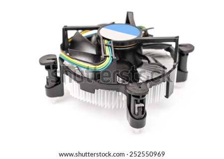 Computer CPU (Central Processing Unit) Heatsink And Cooler Isolated - stock photo