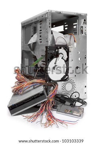 Computer crash. Information security concept. - stock photo