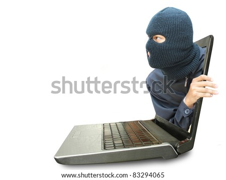 Computer crime concept - stock photo