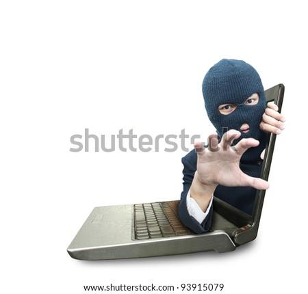 Computer crime concept - stock photo