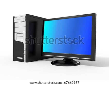 Computer. 3d illustration