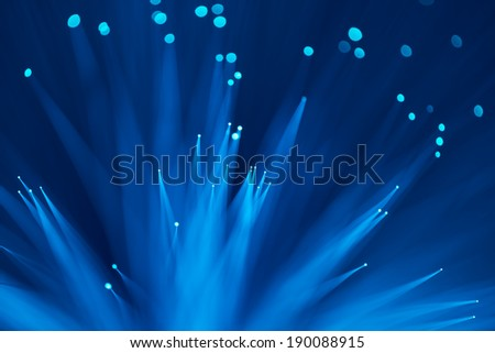 computer data concept with fiber optic for global communication - stock photo