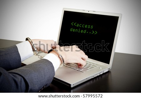 computer data protection from hacker attack - stock photo