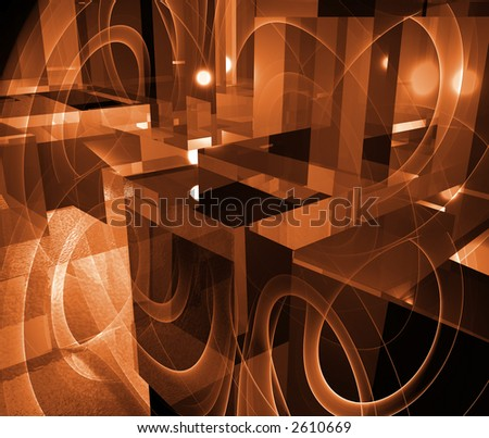 Computer designed abstract background