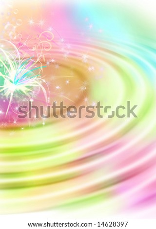 Computer designed abstract background, magic stationery - stock photo
