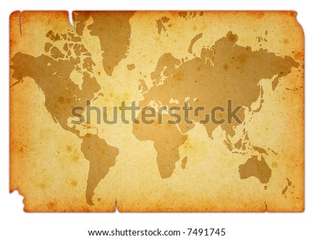 Computer designed grunge world map background stock illustration computer designed grunge world map background isolated on white gumiabroncs Gallery