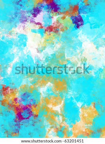 Computer designed high detailed  abstract watercolor collage with space for your text. - stock photo
