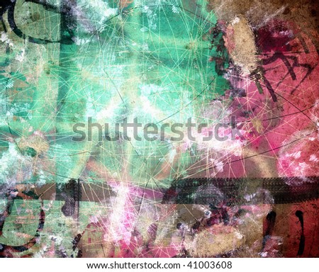 Computer designed high detailed grunge abstract textured background - collage