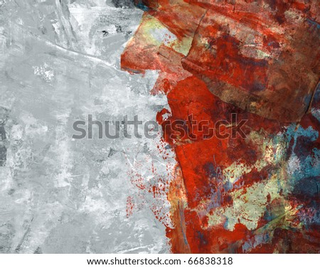 Computer designed high detailed grunge abstract textured watercolor collage with space for your text. - stock photo