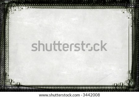 Computer designed highly detailed  border and aged textured background with space for your text or image. Nice grunge layer for your projects.