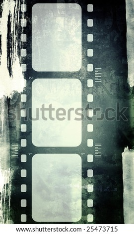 Computer designed highly detailed film frame with space for your text or image.