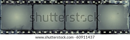 Computer designed highly detailed film frame with space for your text or image. - stock photo