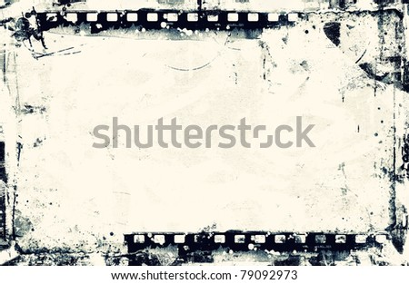 Computer designed highly detailed film frame with space for your text or image. Nice grunge element for your projects. - stock photo