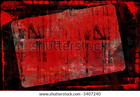 Computer designed highly detailed grunge border and background with space for your text or image. Great grunge layer for your projects.