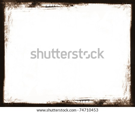 Computer designed highly detailed grunge border. Great grunge layer for your projects. - stock photo