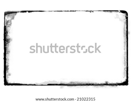 Computer designed highly detailed grunge border over white with space for your text or image. Great grunge layer for your projects. - stock photo