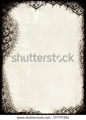 Computer designed highly detailed grunge border with space for your text or image. Great grunge layer for your projects. For more  images like this check my portfolio. - stock photo