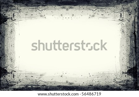 Computer designed highly detailed grunge frame  with space for your text or image. Great grunge layer for your projects.More images like this in my portfolio - stock photo