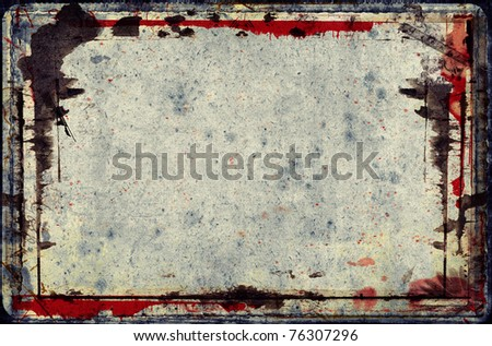Computer designed highly detailed grunge frame  with space for your text or image. Great grunge layer for your projects.