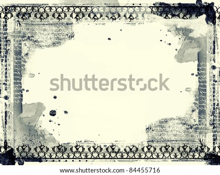 Computer designed highly detailed grunge frame  with space for your text or image. Great grunge layer for your projects. - stock photo