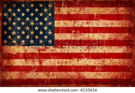 Computer designed highly detailed grunge illustration - Flag of USA