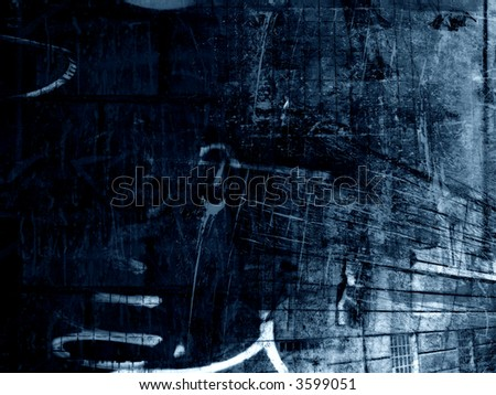 Computer designed highly detailed grunge textured abstract background - collage