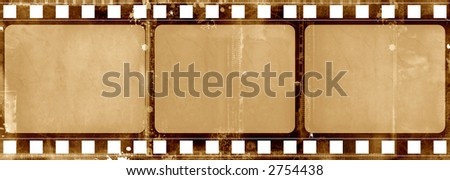 Computer designed highly detailed grunge textured film frame with space for your text or image - stock photo