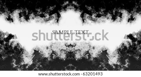 Computer designed highly detailed grunge textured frame with space for your text - stock photo