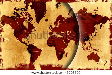 World map grunge background stock photo 530690194 shutterstock computer designed highly detailed grunge world map background gumiabroncs Gallery
