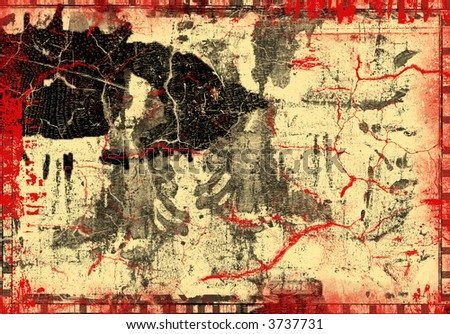 Computer designed highly detailed  textured collage. Great grunge element or background layer for your projects.
