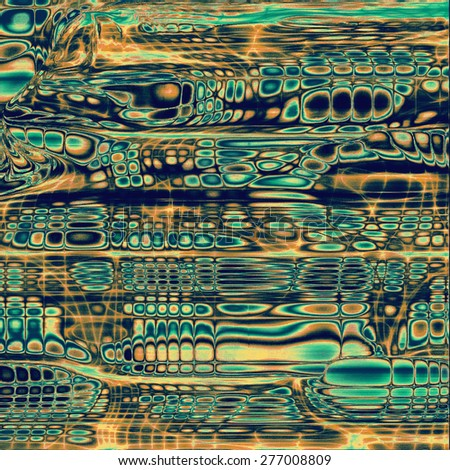 Computer designed highly detailed vintage texture or background. With different color patterns: brown; blue; yellow (beige); cyan - stock photo