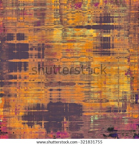 Computer designed highly detailed vintage texture or background. With different color patterns: yellow (beige); purple (violet); red (orange); pink - stock photo