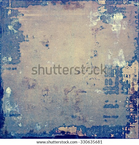Computer designed highly detailed vintage texture or background. With different color patterns: yellow (beige); brown; blue; gray - stock photo
