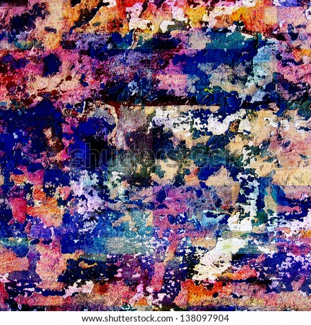 Computer Designed Vintage Background Textures Painting Stock