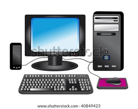 COMPUTER DESKTOP - stock photo